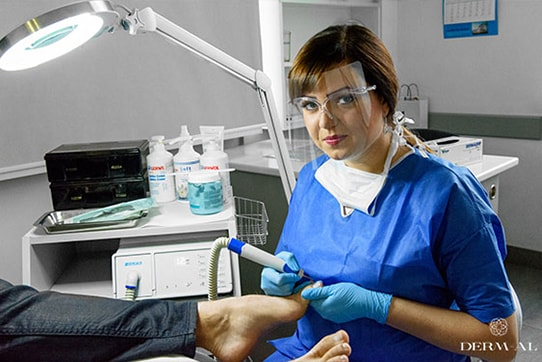 Treatment of foot and toenail disorders